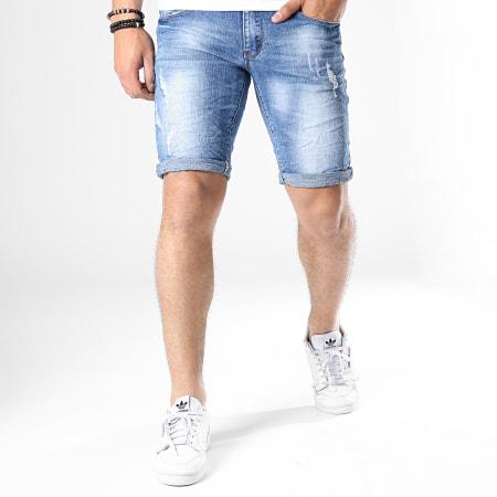 MTX - Short Jean Slim E6855 Bleu Denim