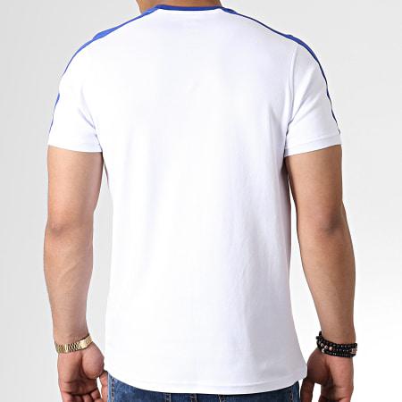 Okawa Sport - Tee Shirt A Bandes Olive Et Tom New Team 1 Blanc Bleu Roi