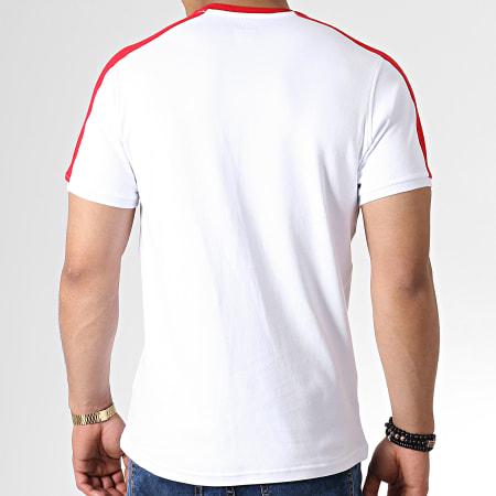 Okawa Sport - Tee Shirt A Bandes Olive Et Tom New Team 2 Blanc Rouge