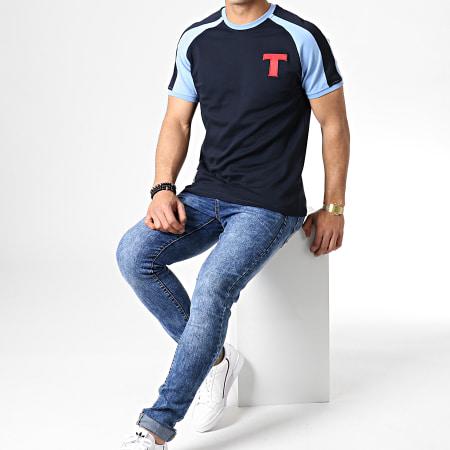 Okawa Sport - Tee Shirt Olive Et Tom Toho Bleu Marine Bleu Clair