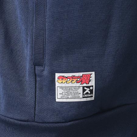 Okawa Sport -  Veste Zippée A Bandes Toho Bleu Marine Bleu Clair