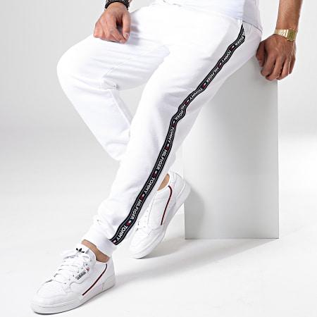 Tommy Hilfiger Jeans - Pantalon Jogging A Bandes Track 0706 Blanc