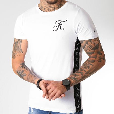Final Club - Tee Shirt Avec Bandes Et Broderie 230 Blanc