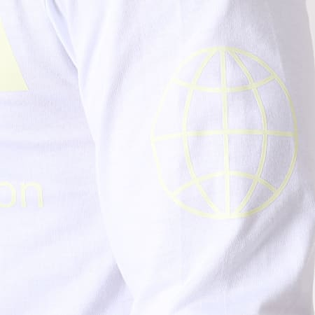 NASA - Tee Shirt Manches Longues Glow In The Dark Blanc