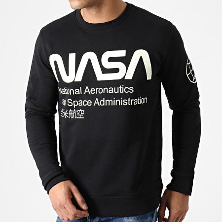 NASA - Sweat Crewneck Glow In The Dark Noir