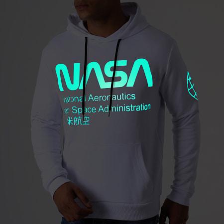 NASA - Sweat Capuche Glow In The Dark Blanc
