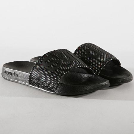 Superdry - Claquettes Femme Mesh Pool GF3940ST Noir