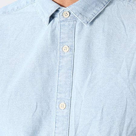 Only And Sons - Chemise Manches Courtes Ted Denim Bleu Clair