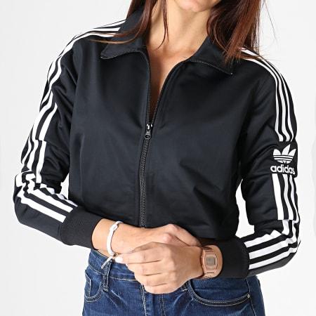 adidas - Veste Zippée Femme Crop Track Top DU8192 Noir