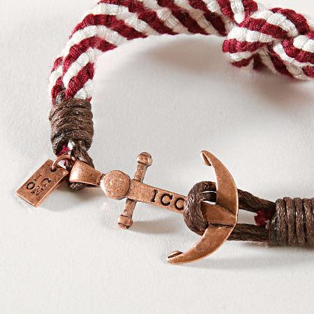 Icon Brand - Bracelet Captain Flint Bordeaux Blanc Doré