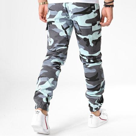 Sixth June - Jogger Pant Camouflage M3852CPA Bleu Clair Gris Noir