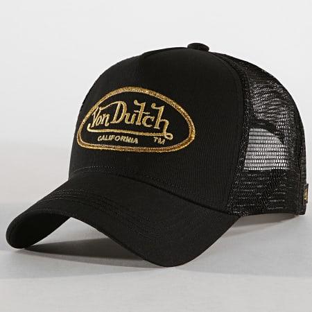 Von Dutch - Casquette Trucker LBO Noir Doré