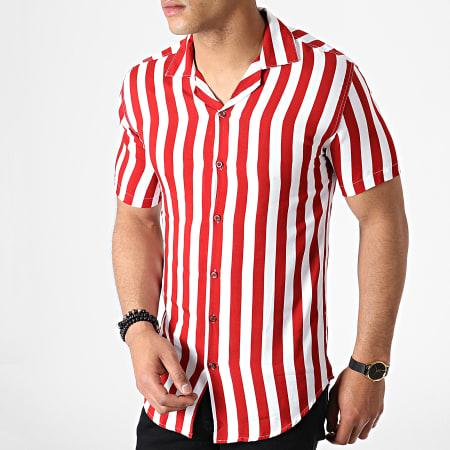 Hommes Chemise à manches courtes Ibiza Blanc Italien Concept Polka Dot Absolute Rebellion