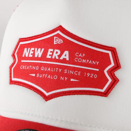 New Era - Casquette Trucker Patch 11941674 Rouge Blanc
