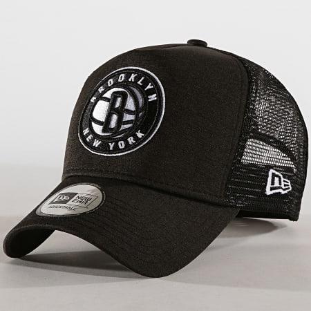 New Era - Casquette Trucker Shadow Tech Brooklyn Nets Noir