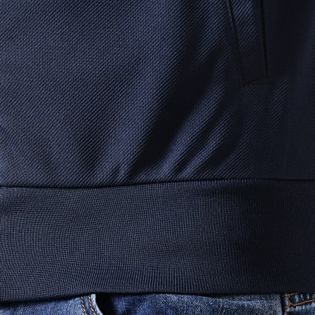 Sergio Tacchini - Veste Zippée Damarindo 36052 Bleu Marine Blanc