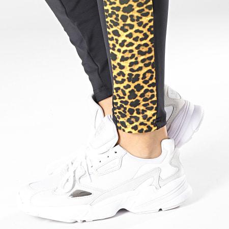 Urban Classics - Legging Femme A Bandes Léopard TB2637 Noir