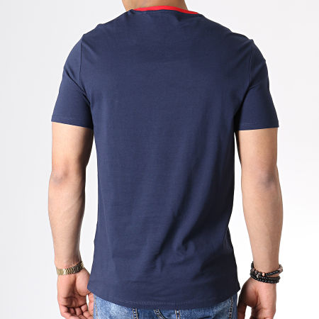Guess - Tee Shirt M93I04I3Z00 Bleu Marine Blanc Rouge