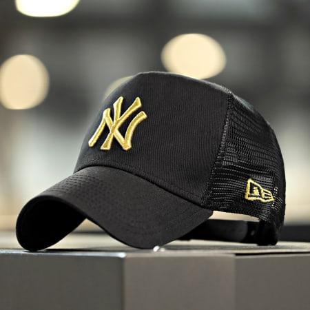 New Era - Casquette Trucker Adjustable LaBoutique New York Yankees Noir Or