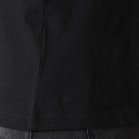 Brave Soul - Tee Shirt Poche Léopard Felin Noir