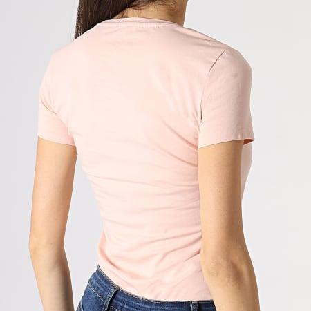 Guess - Tee Shirt Femme W93I89J1300 Rose Pâle Noir