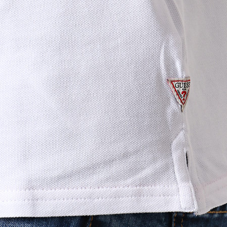 Guess - Polo Manches Courtes M93P43K8510 Blanc