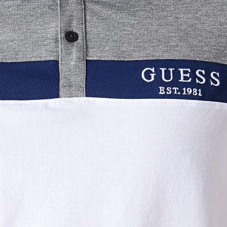 Guess - Polo Manches Courtes M93P35K8RC0 Blanc Gris Chiné