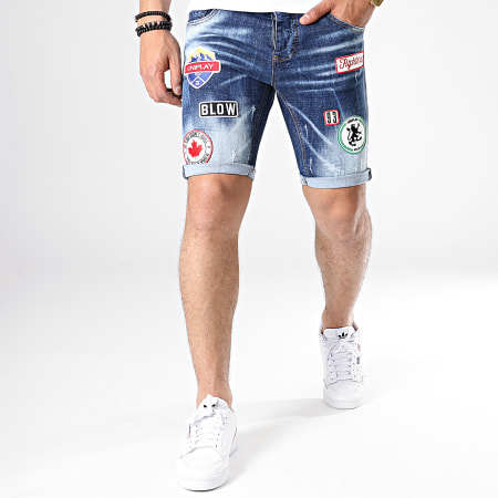 Uniplay - Short Jean Skinny 077 Bleu Denim