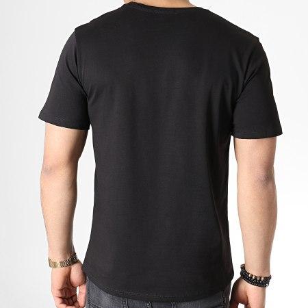 Uniplay - Tee Shirt A Strass KXT-32 Noir Argenté