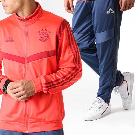 adidas - Ensemble De Survêtement FC Bayern DX9168 Corail Bleu Foncé