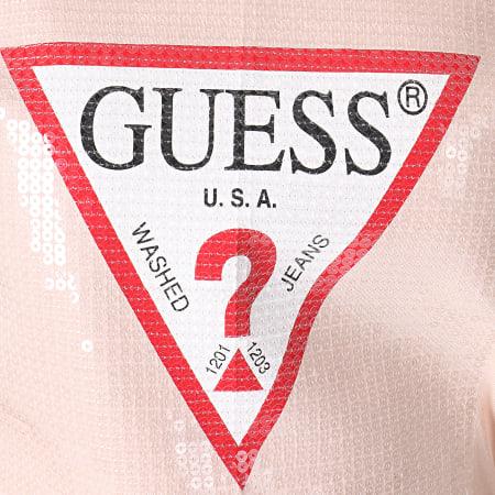 Guess - Tee Shirt Femme W93I87R5JK0 Rose Pâle