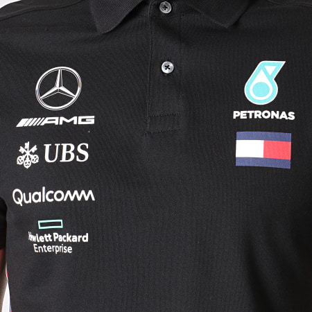 AMG Mercedes - Polo Manches Courtes 141191040 Noir
