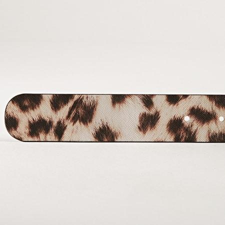 Guess - Ceinture Femme Leopard BW7224VIN35 Marron Beige Doré