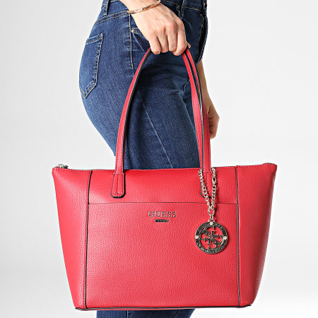 sac a mainfemme guess rouge