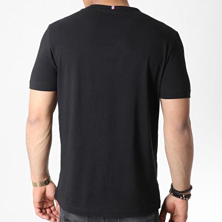 Le Coq Sportif - Tee Shirt ESS N7 Noir Blanc Bleu Rouge