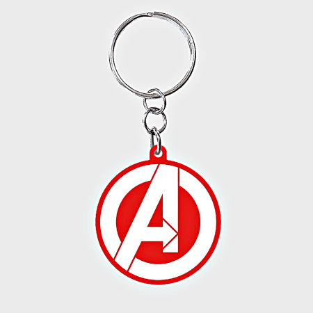 Marvel - Porte Clés ABYKEY174 Rouge Blanc Argenté