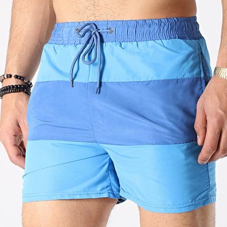 MTX - Short De Bain 6723 Bleu Foncé Bleu Turquoise