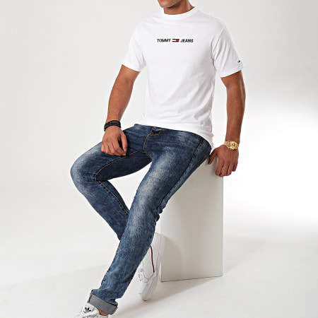 Tommy Hilfiger Jeans - Tee Shirt Small Logo 7231 Blanc
