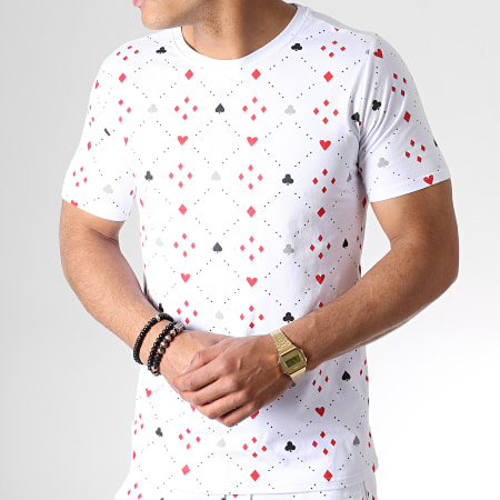 Berry Denim - Ensemble Short Tee Shirt 130 Blanc Rouge
