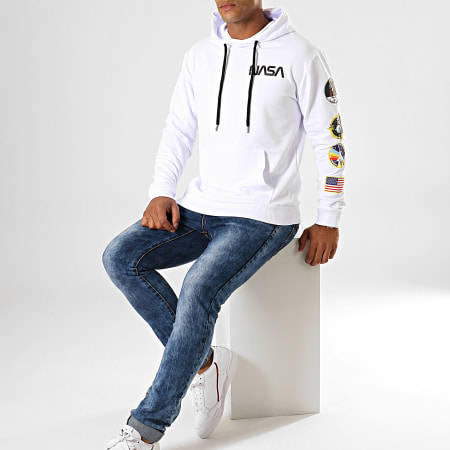NASA - Sweat Capuche Giga Back Blanc