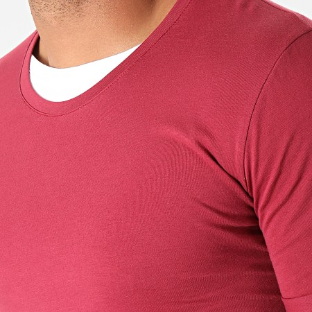 LBO - Tee Shirt Oversize Double Col 770 Bordeaux