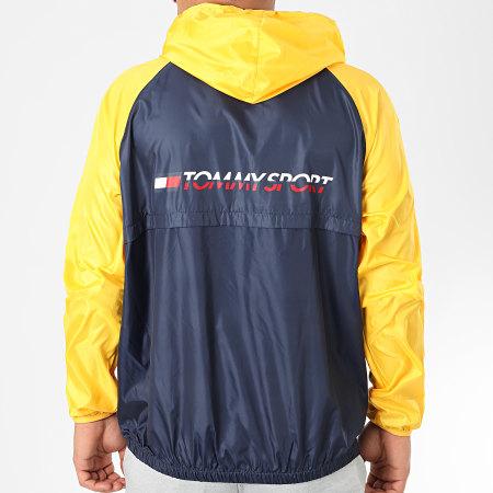 Tommy Sport - Coupe Vent Back Logo 0143 Jaune Bleu Marine