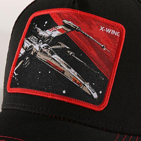 Star Wars - Casquette Trucker X-Wing Noir Rouge