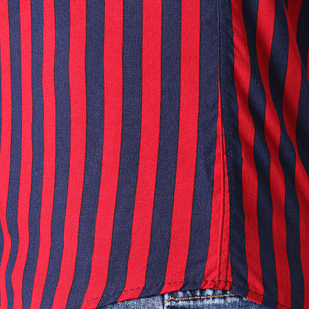 Classic Series - Chemise Manches Courtes 222471 Rouge Bleu Marine