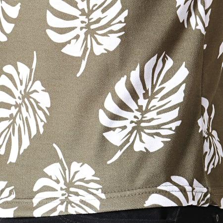 Classic Series - Polo Manches Courtes 5012 Vert Kaki Floral