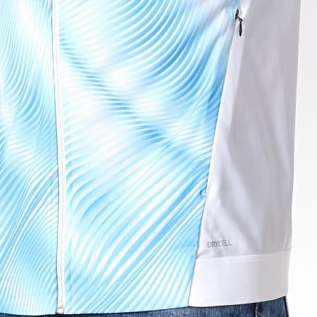 Puma - Veste Zippée OM Stadium 755872 Blanc Bleu Ciel