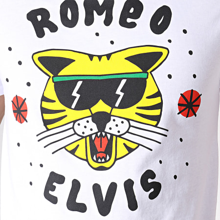Romeo Elvis - Tee Shirt Chat Blanc