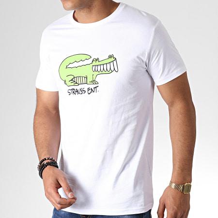 Romeo Elvis - Tee Shirt Croco Blanc Vert