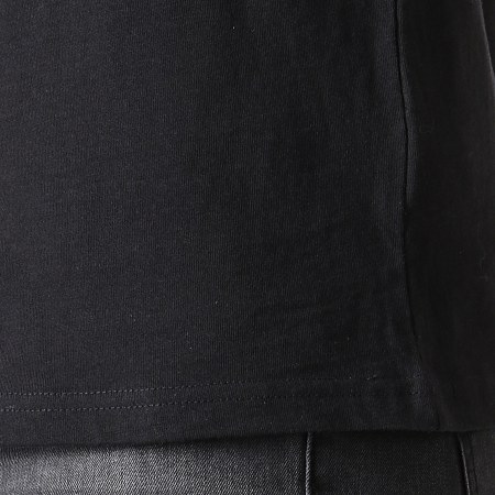 Romeo Elvis - Tee Shirt Croco Noir Rose Bleu