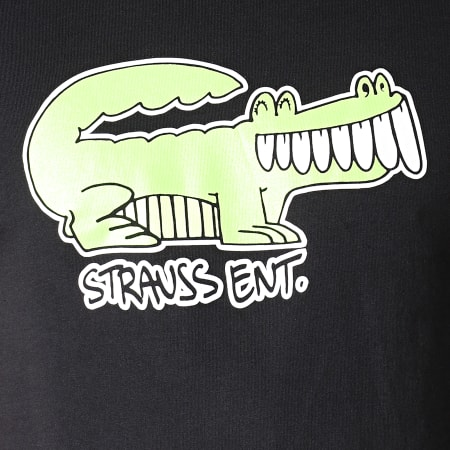 Romeo Elvis - Tee Shirt Croco Noir Vert